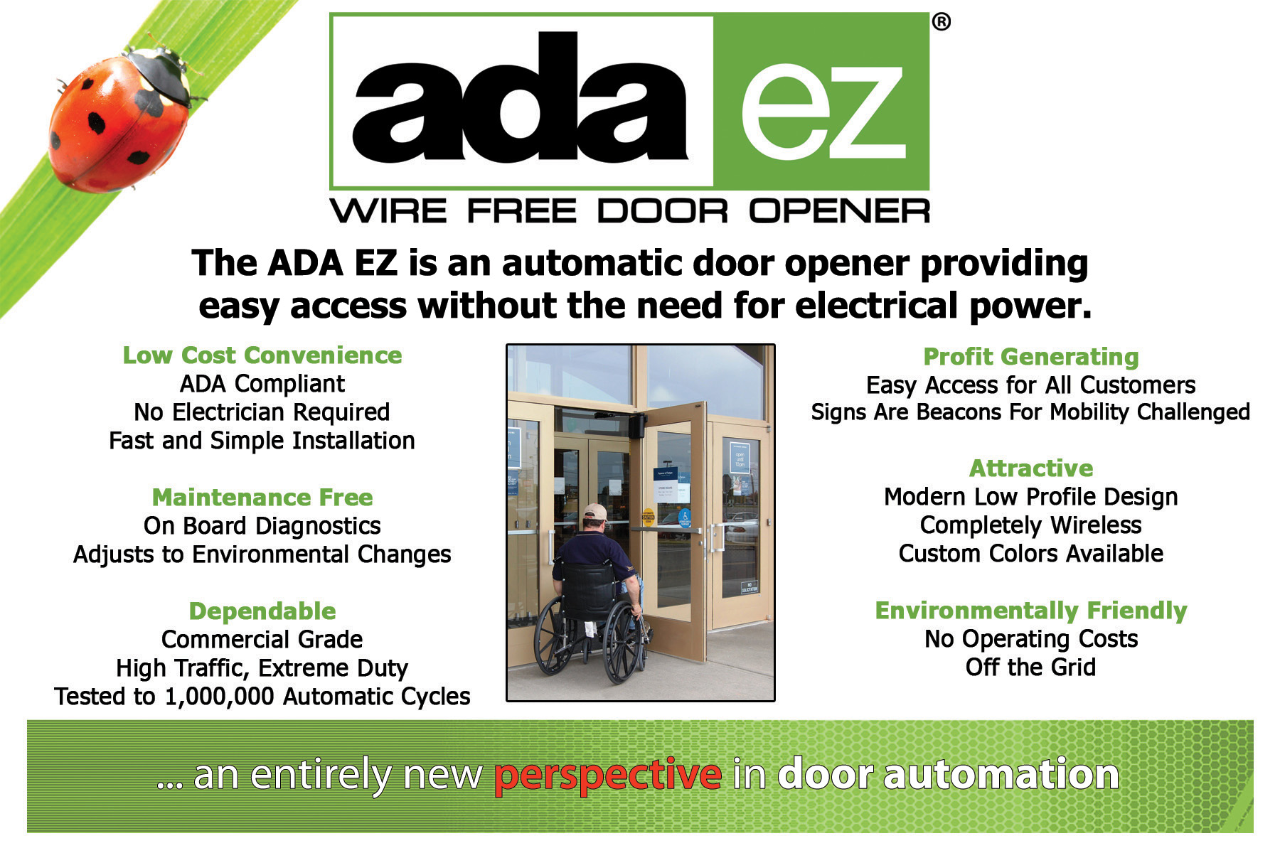 ADA EZ Automatic Door Opener for Disabled Access in NY