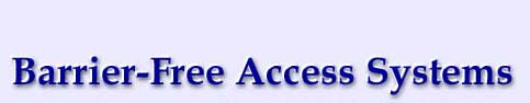 Logo of Barrier Free Access Systems - Automatic Door Openers based in Long Island NY.